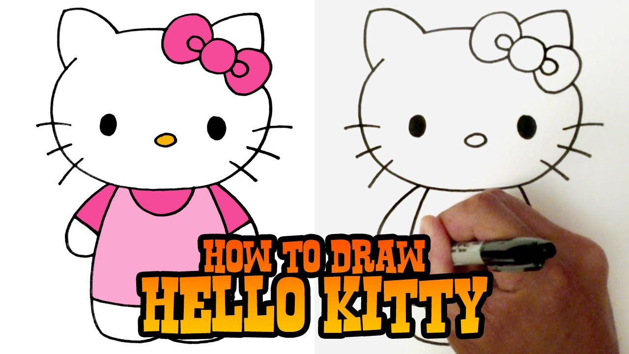 1280x720 How To Draw Hello Kitty