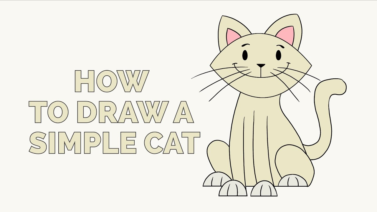 1280x720 How To Draw A Simple Cat