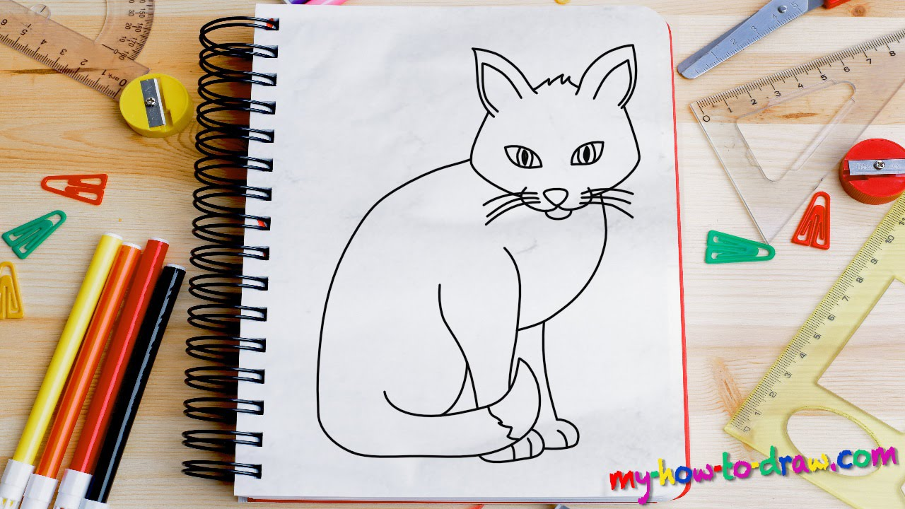 1280x720 How To Draw A Cat