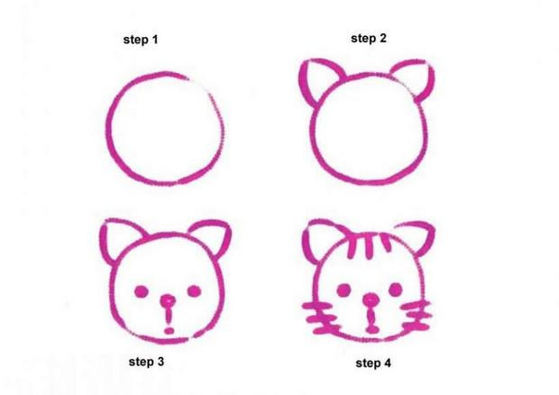 620x438 How To Draw Kitty Cat