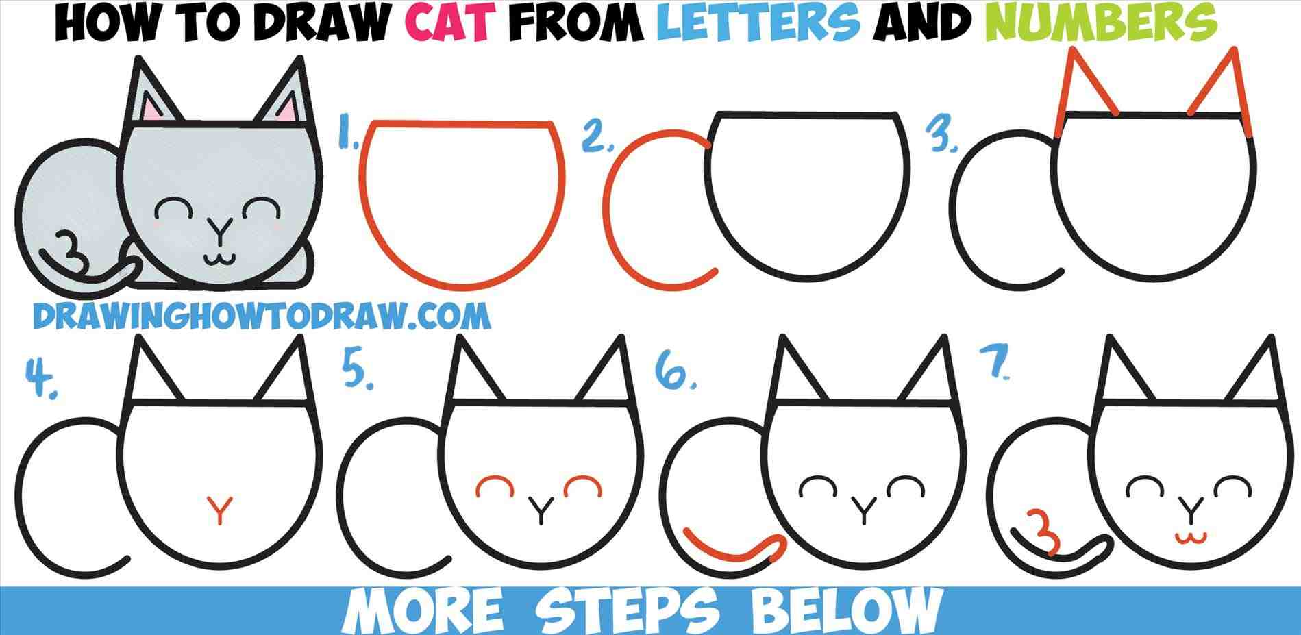 1899x927 The Images Collection Of Easy Cat Drawings For Kids Esy Rt Ing