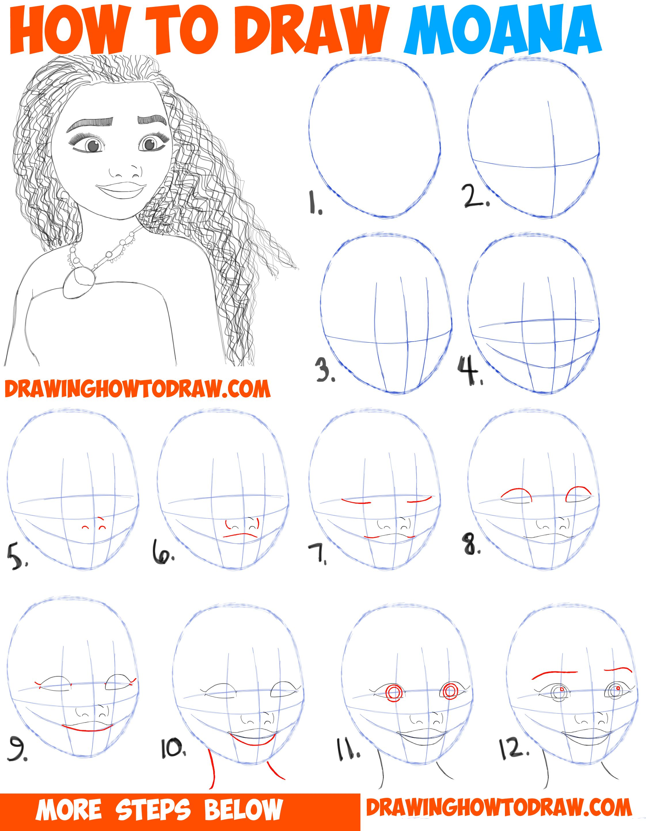 2244x2883 How To Draw Moana Easy Step By Step Drawing Tutorial For Kids