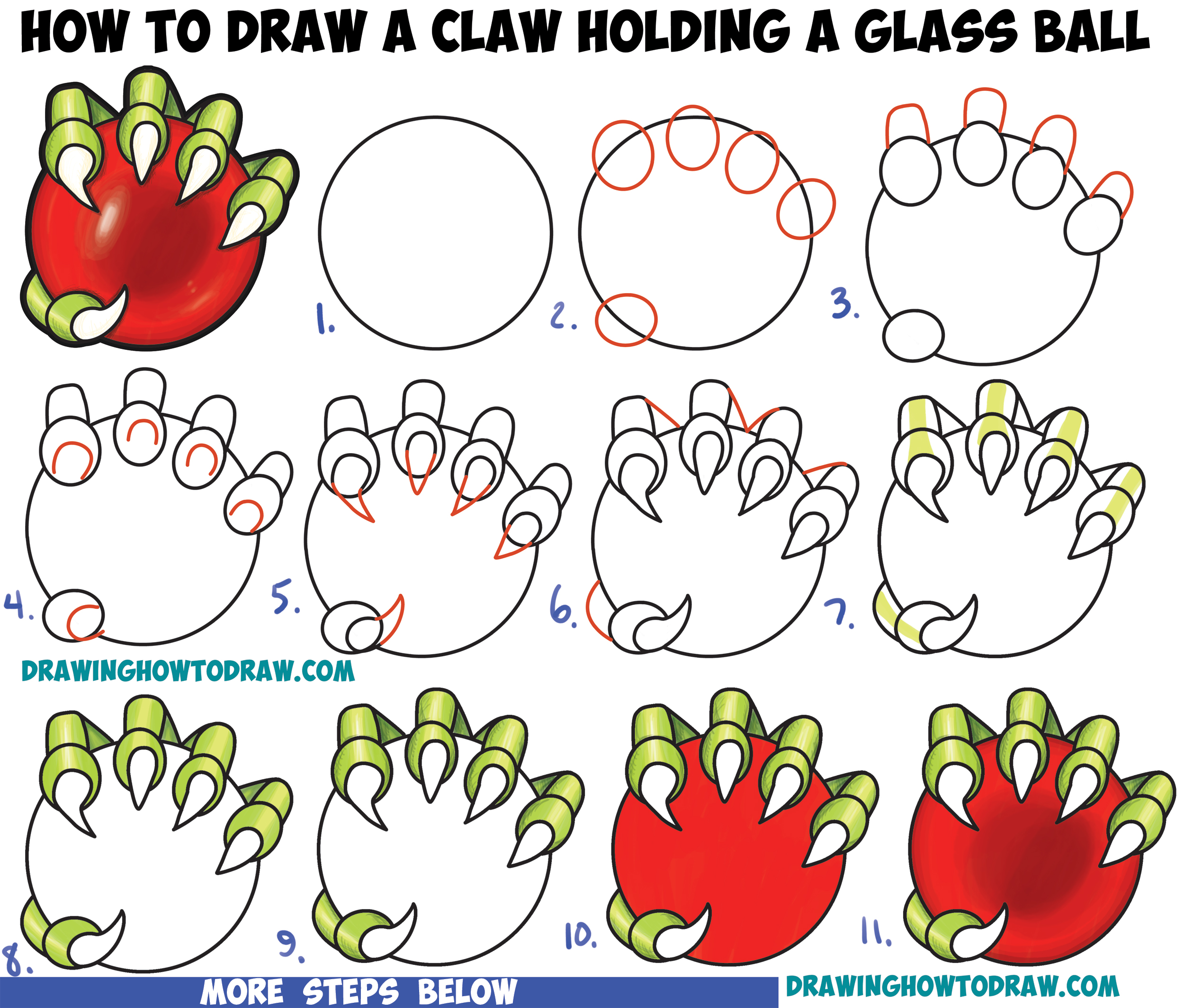 2500x2129 How To Draw A Dragon's Claw Holding A Glass Ball Easy Step By Step