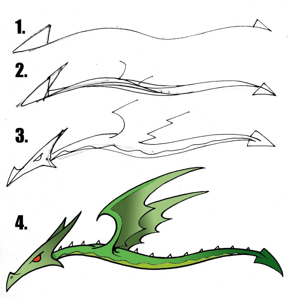 996x1024 Images For Gt Easy Dragon Drawings For Kids Step By Step