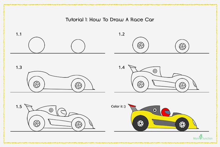720x480 How To Draw A Car Step By Step For Kids Drawings, Drawing Ideas