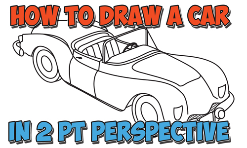 500x300 How To Draw A Car Convertible In Two Point Perspective Easy Step