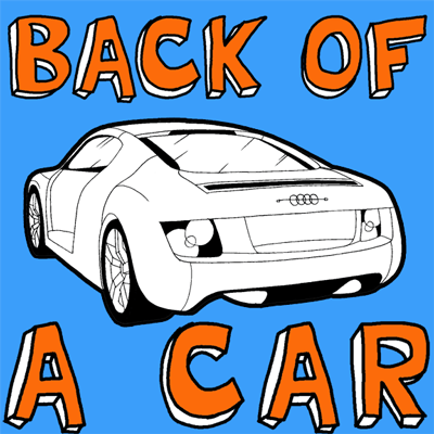400x400 How To Draw The Back Of A Car With Easy Step By Step Drawing
