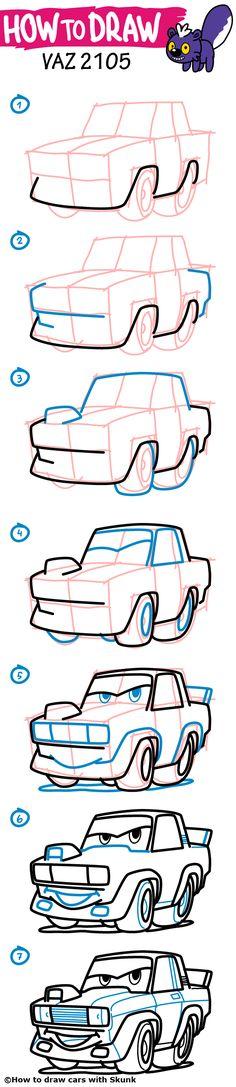 236x1087 How To Draw A Car. Nissan Skyline Gt R. Step By Step Tutorial