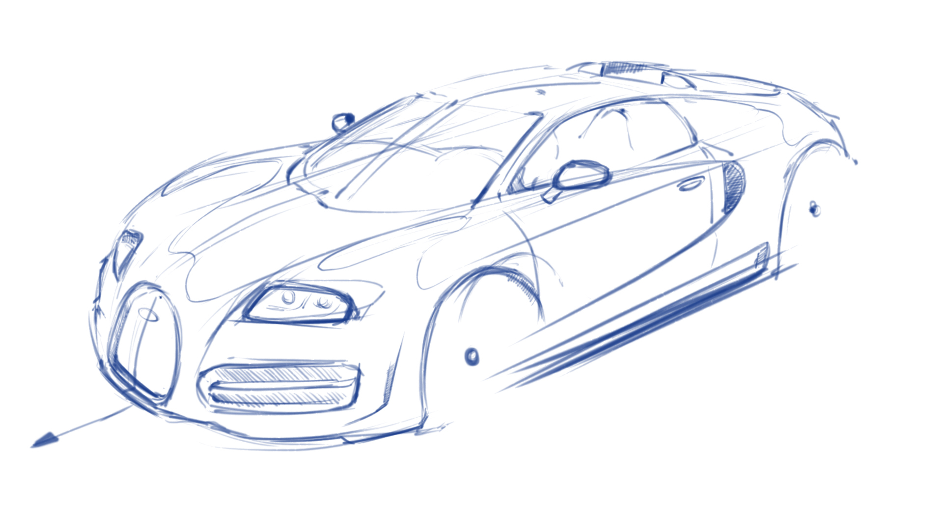1920x1080 Cars Sketch Drawing How To Draw Ferrari 360, A Sports Car, Easy