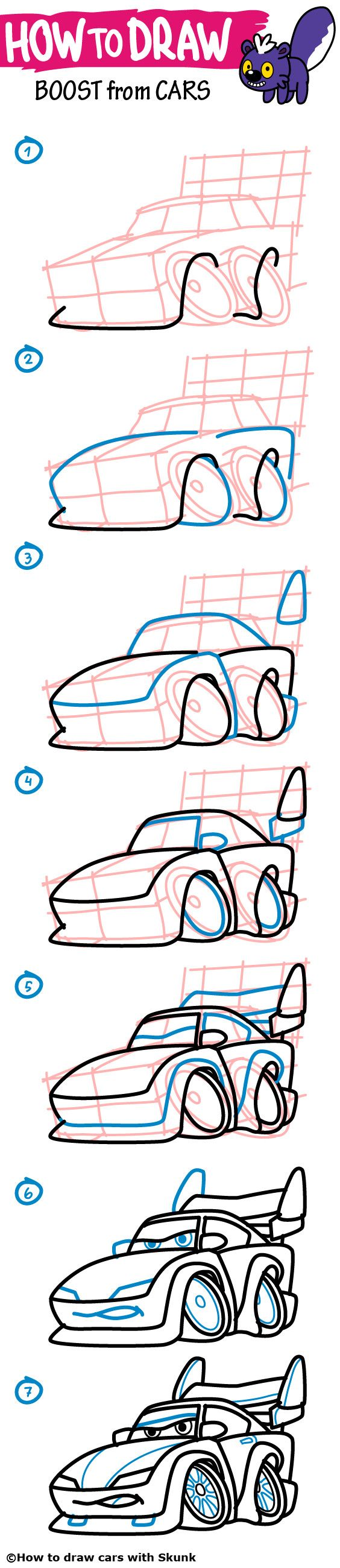 564x2600 Gallery How To Draw Cars With Colored Penfour Step By Step