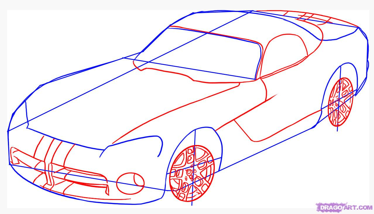 1278x732 Sketch Cars Step Step How To Draw A Dodge Viper, Stepstep, Cars