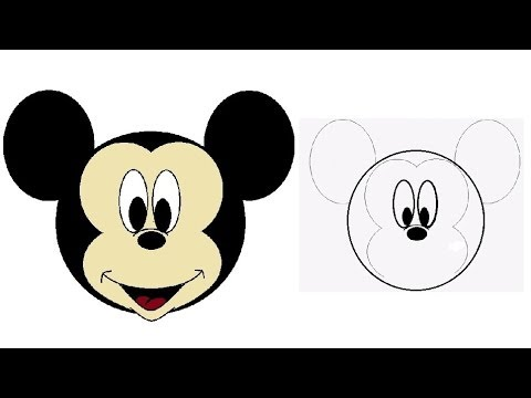 480x360 How To Draw Mickey Mouse How To Draw A Cartoon Face Kids