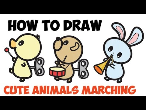 Image of: Baby Animals 480x360 How To Draw Cute Kawaii Animals Amp Characters Marching Band Easy 9minecraft Step By Step Drawing Cute Animals At Getdrawingscom Free For