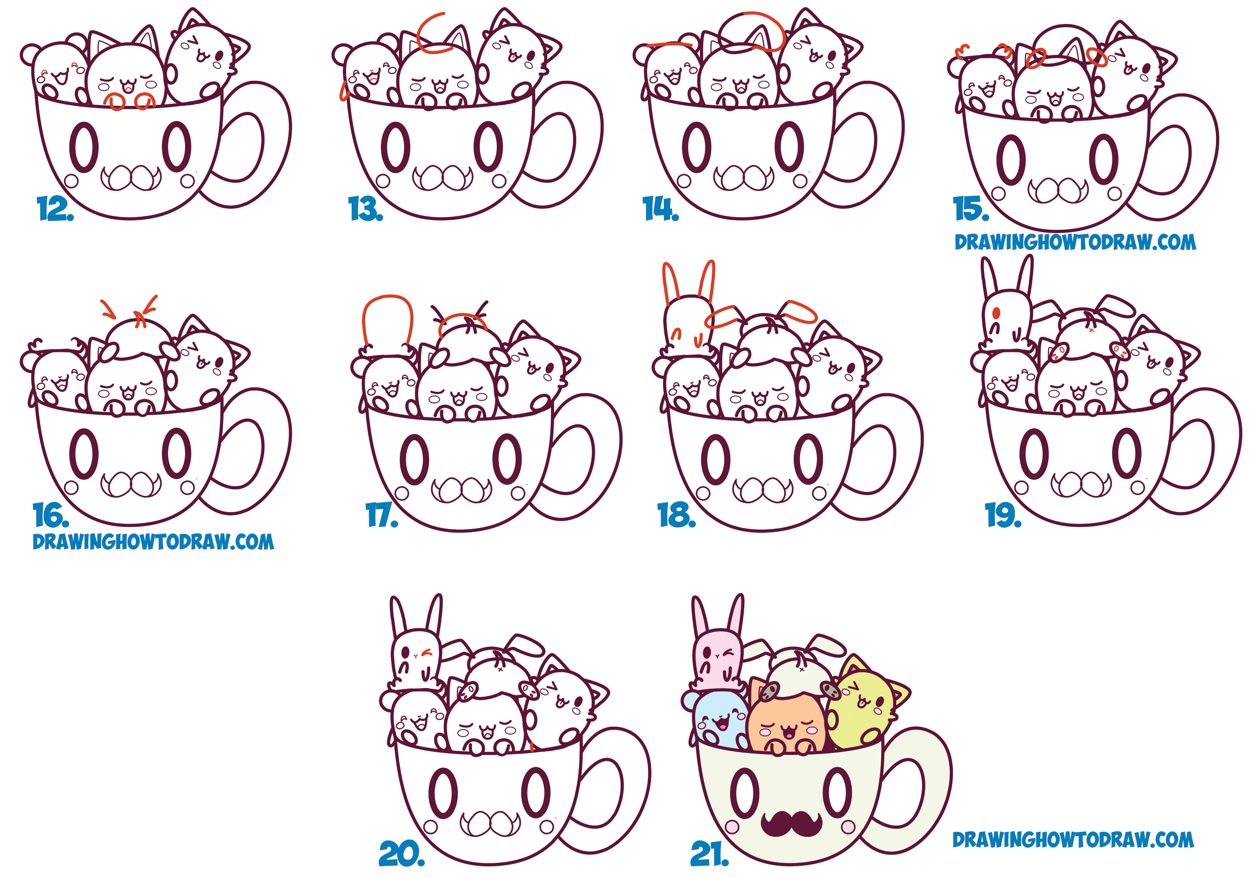 Step By Step Drawing Cute Animals At GetDrawings.com