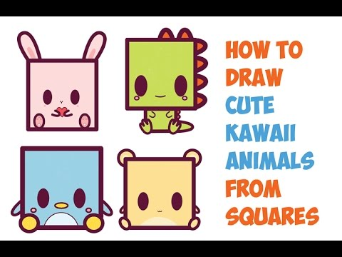 480x360 How To Draw Cute Kawaii Animals From Squares Easy Step By Step