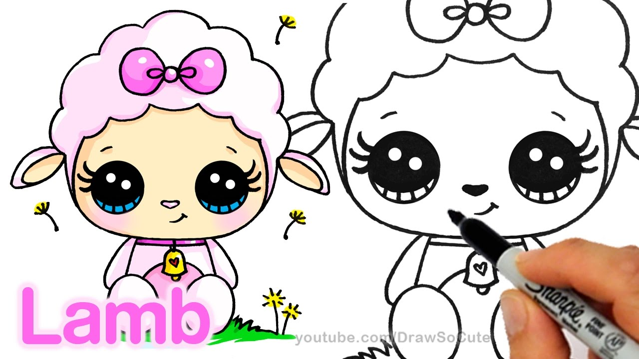 1280x720 How To Draw A Cute Lamb Step By Step Easy