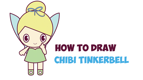 500x280 How To Draw Chibi Tinkerbell
