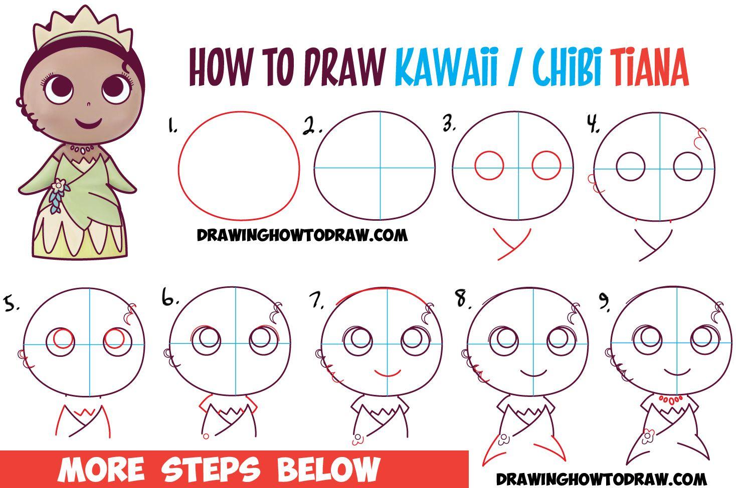 1468x975 How To Draw Cute Baby Chibi Kawaii Tiana The Disney Princess
