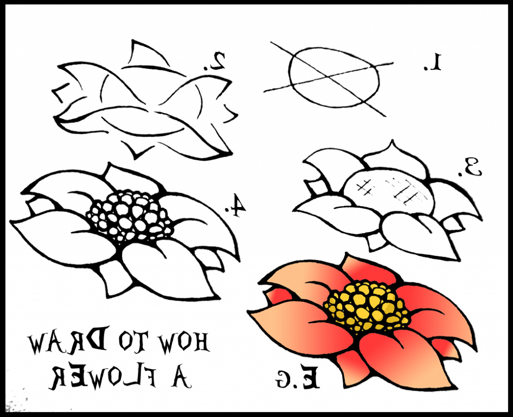 Step By Step Drawing Of Flowers At Getdrawings Free For