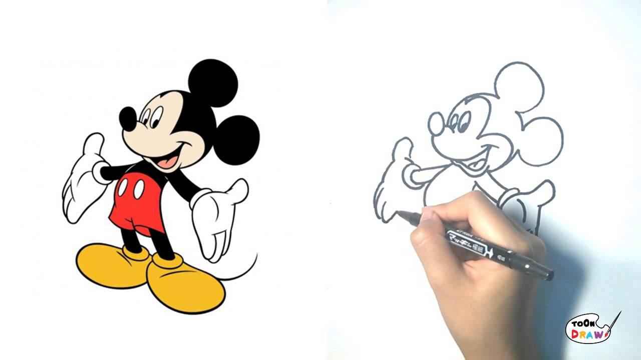 1280x720 Mickey Mouse How To Draw Mickey Mouse Step By Step