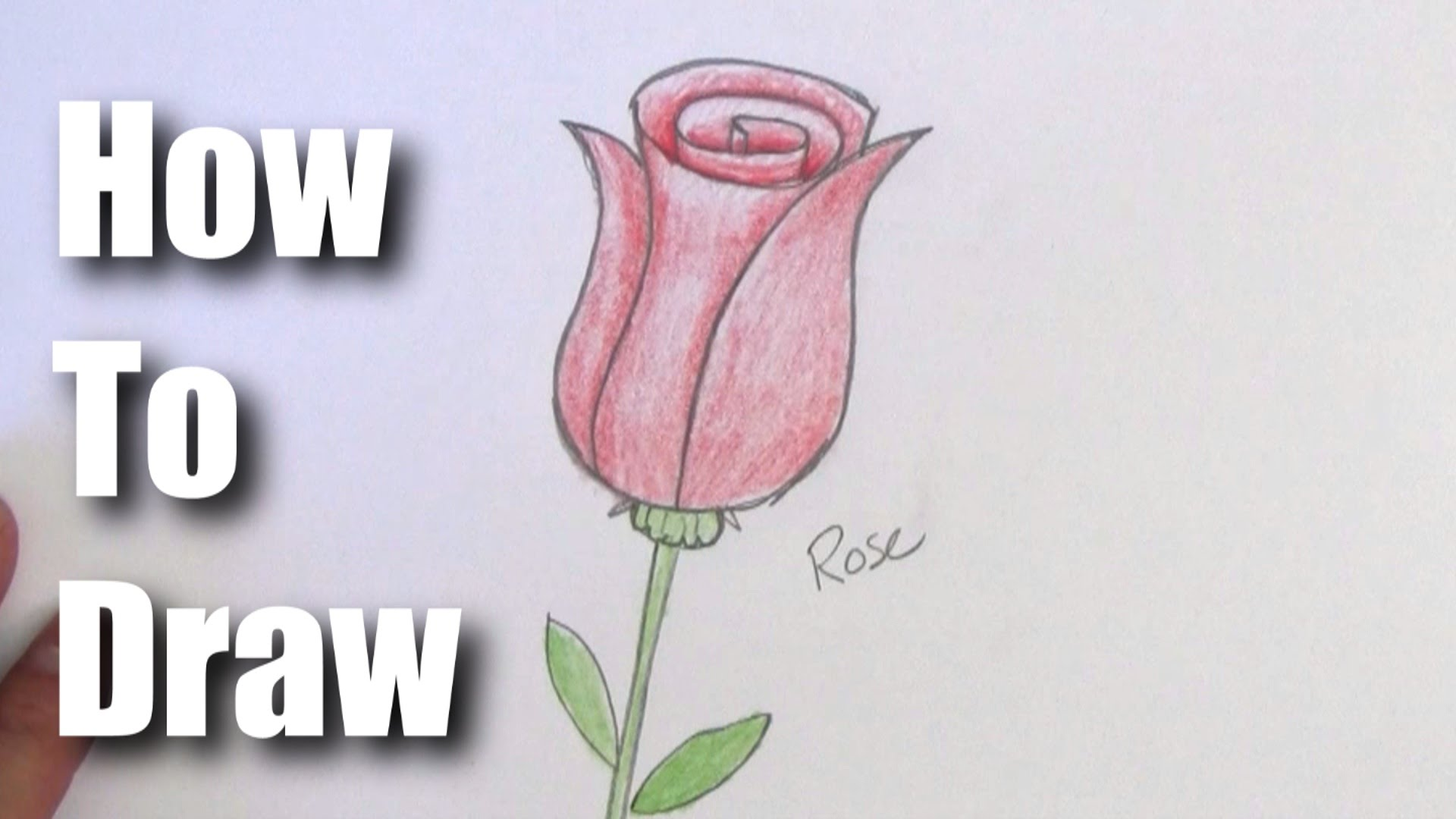 1920x1080 How To Draw A Rose