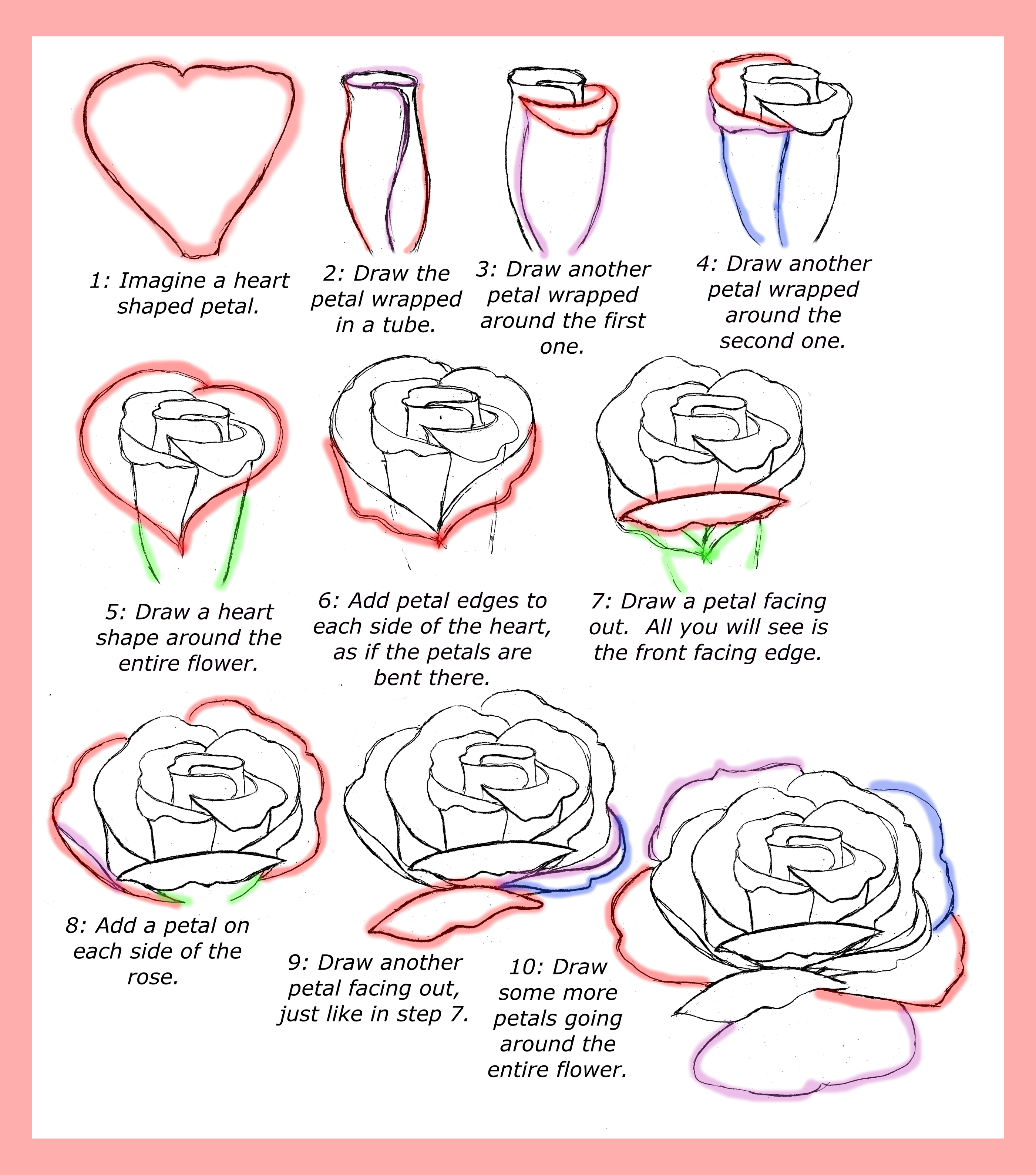 2800x3175 How To Draw Roses