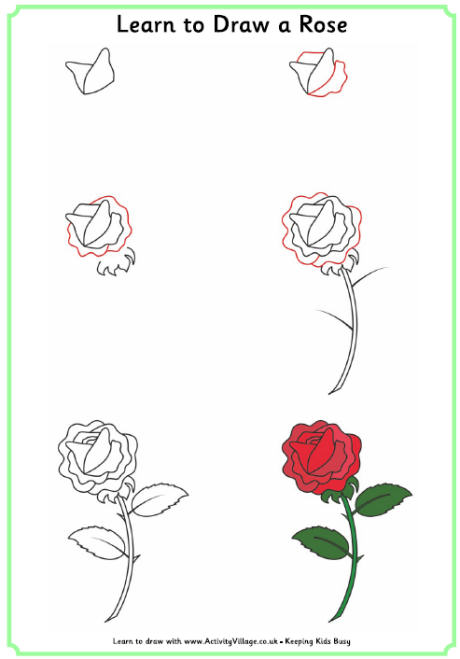 step by step drawing rose at getdrawings com free for personal use