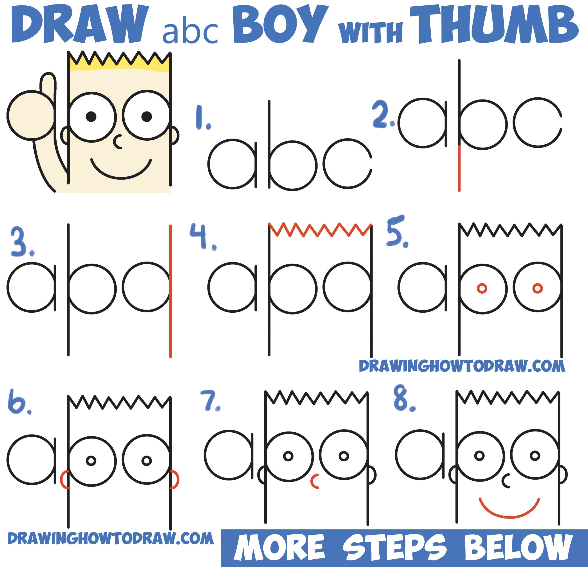 2500x2423 How To Draw Cute Cartoon Boy Kid Thumb Up From Abc