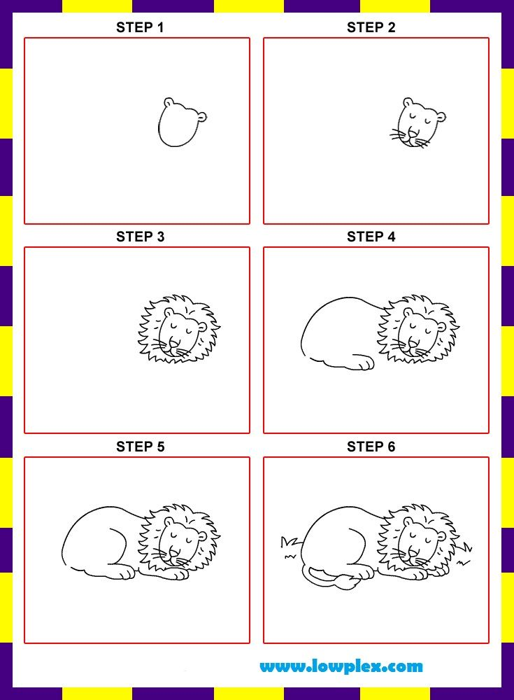 735x1000 Learn To Draw Lion For Kids