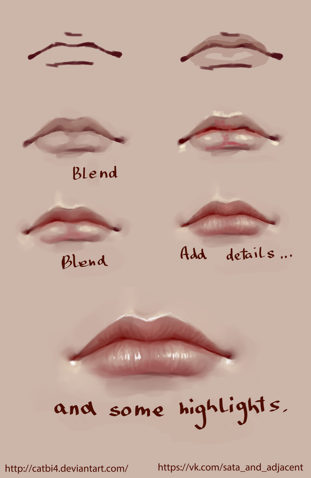 Step By Step Lip Drawing At Getdrawings Com Free For Personal Use