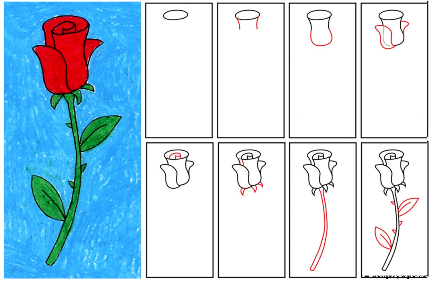 1504x979 Rose Drawing Step By Step For Kids Wallpapers Gallery