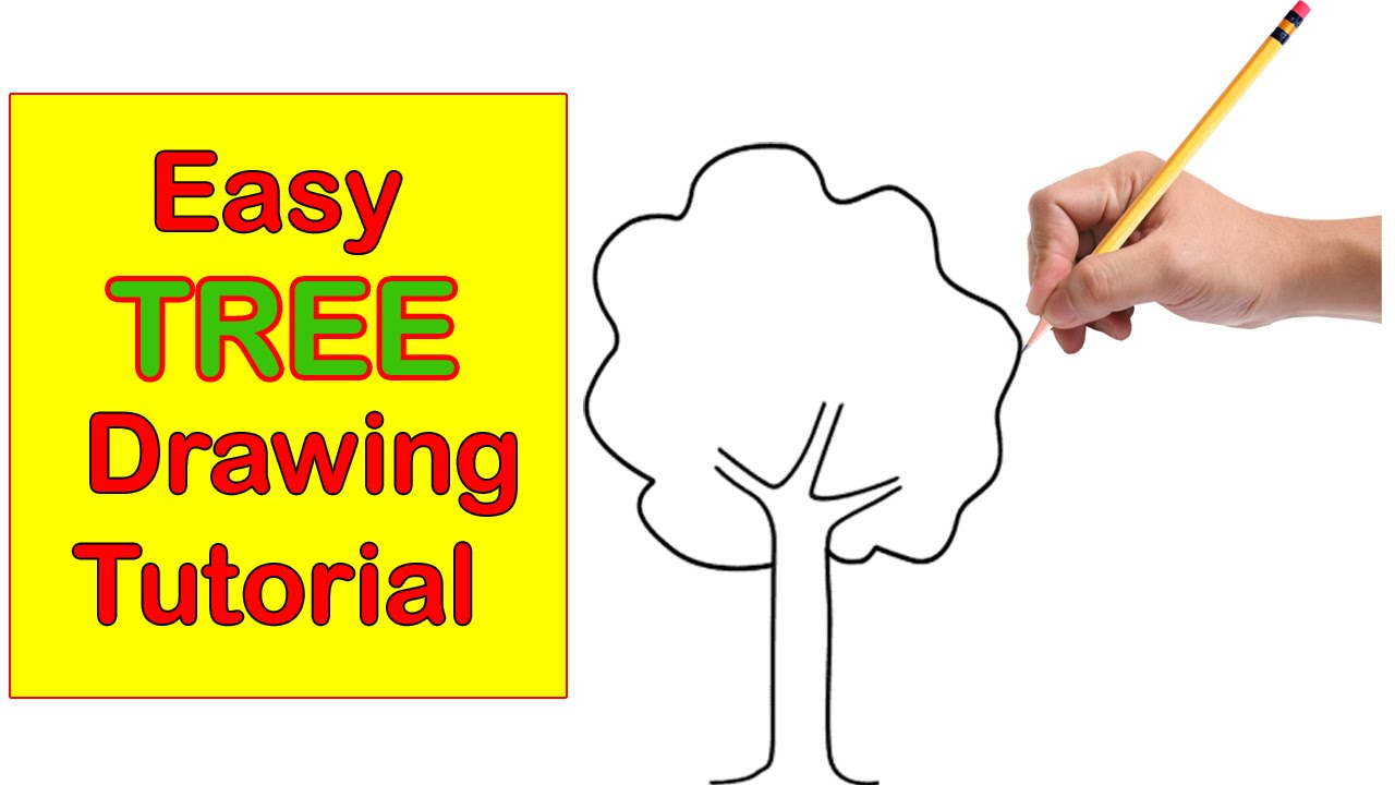 1280x720 Tree Drawing Step By Step Easy Tutorial For Kids Easy And Quick