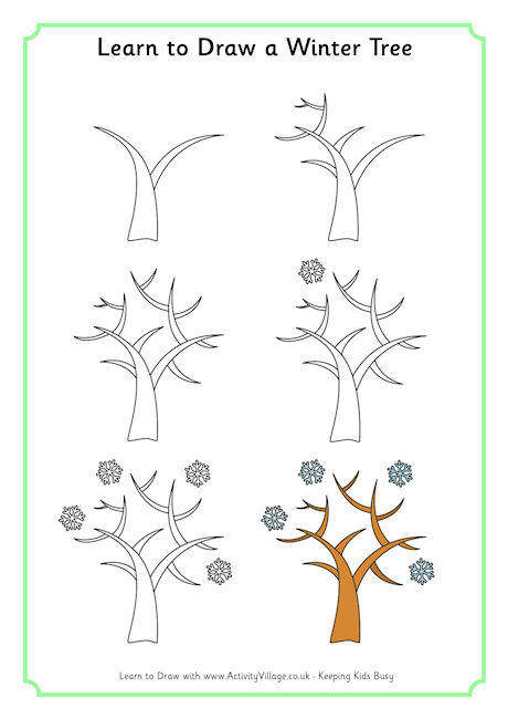 460x650 Learn To Draw A Winter Tree 46