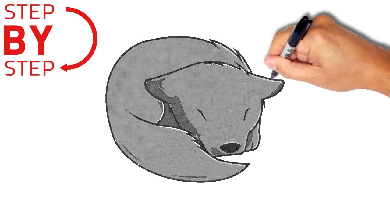 Step By Step Wolf Drawing At Getdrawings Com Free For Personal Use