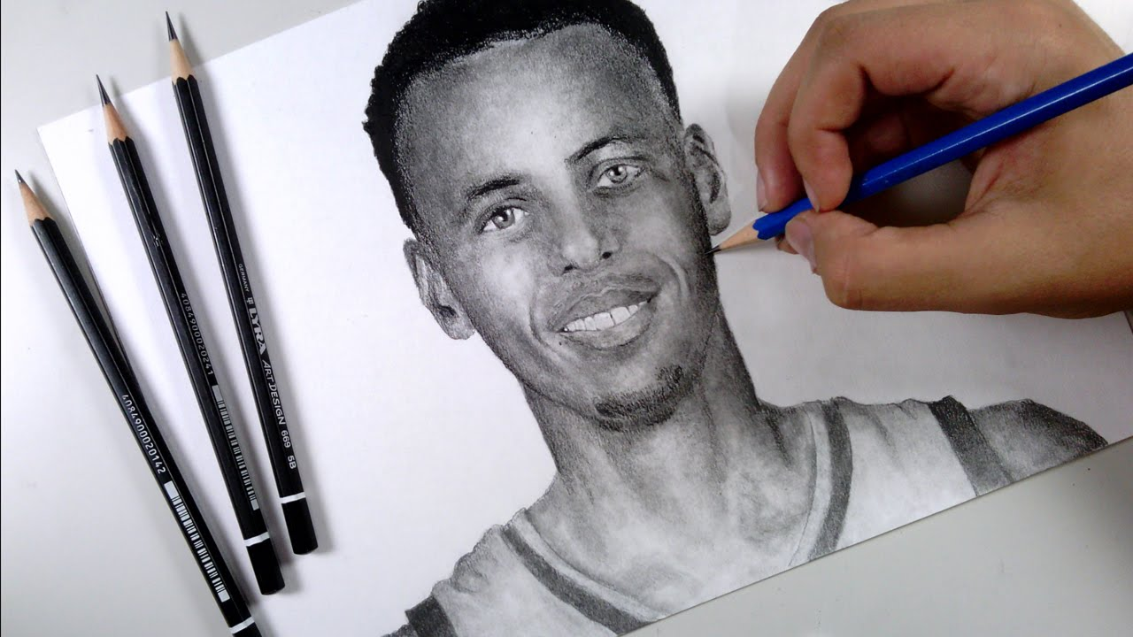 1280x720 Drawing Stephen Curry