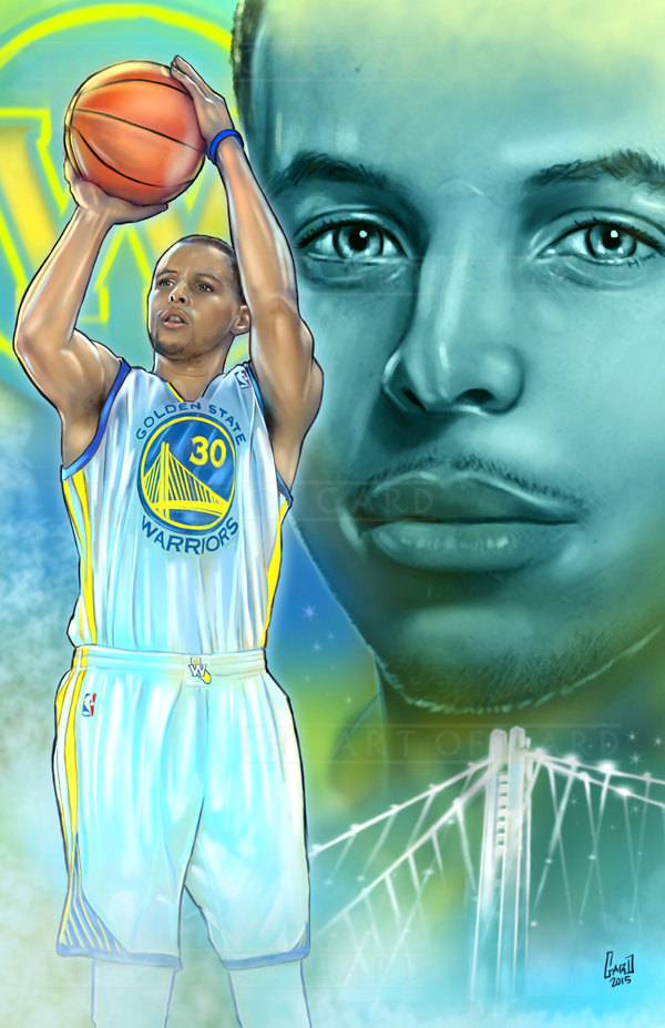 600x927 Stephen Curry Collage (Digital Drawing)