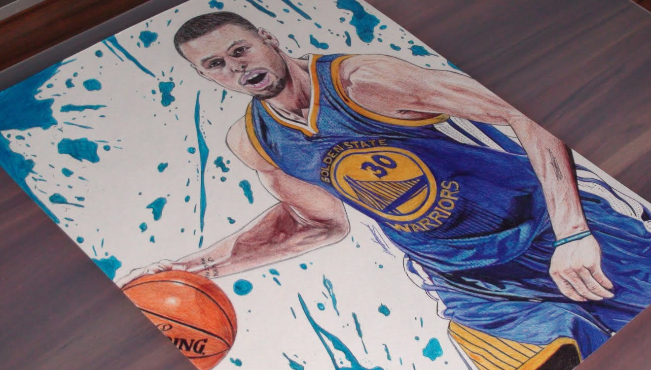 1320x751 Stephen Curry Pen Drawing
