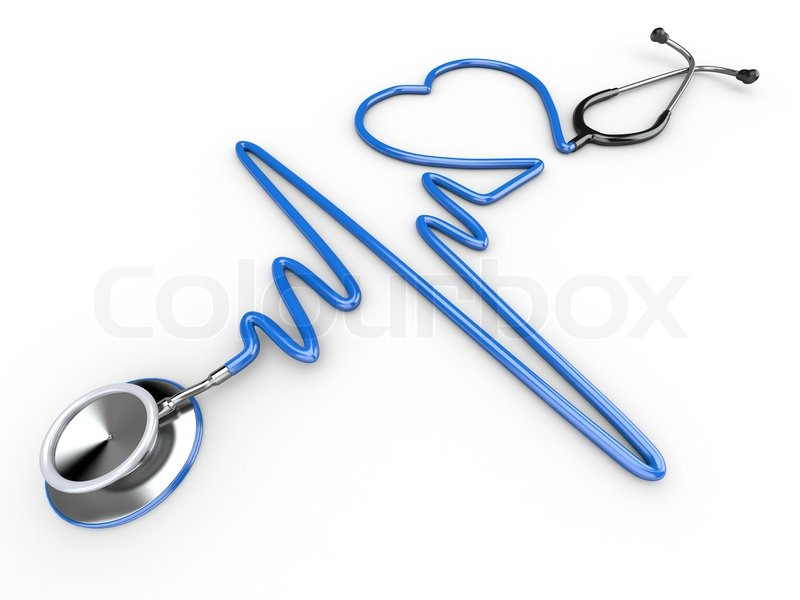800x600 Stethoscope And A Silhouette Of The Heart And Ecg Stock Photo