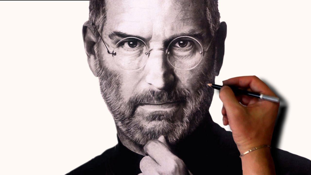 1280x720 Drawing Steve Jobs Hyper Realistic Portrait