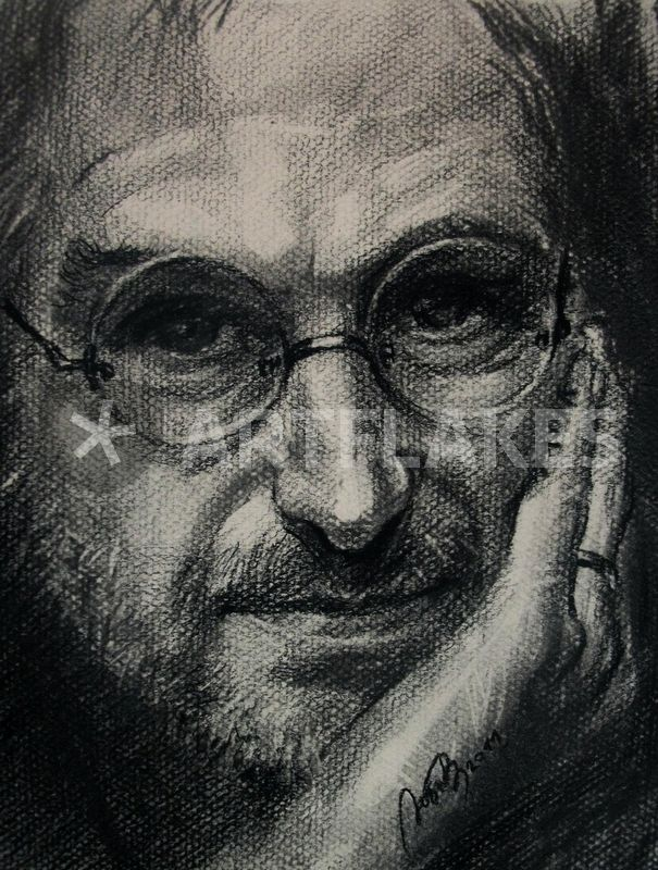 605x800 Steve Jobs Drawing Art Prints And Posters By Lyubov Rasic