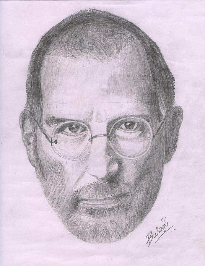 694x900 Steve Jobs Drawing By Balaji Solai