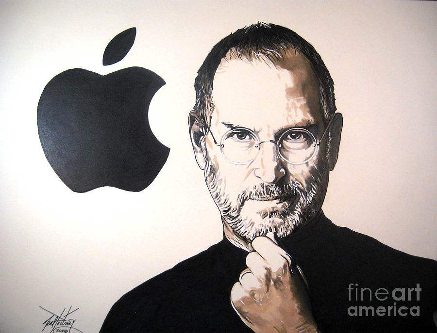 900x687 Steve Jobs Drawing By Neal Portnoy