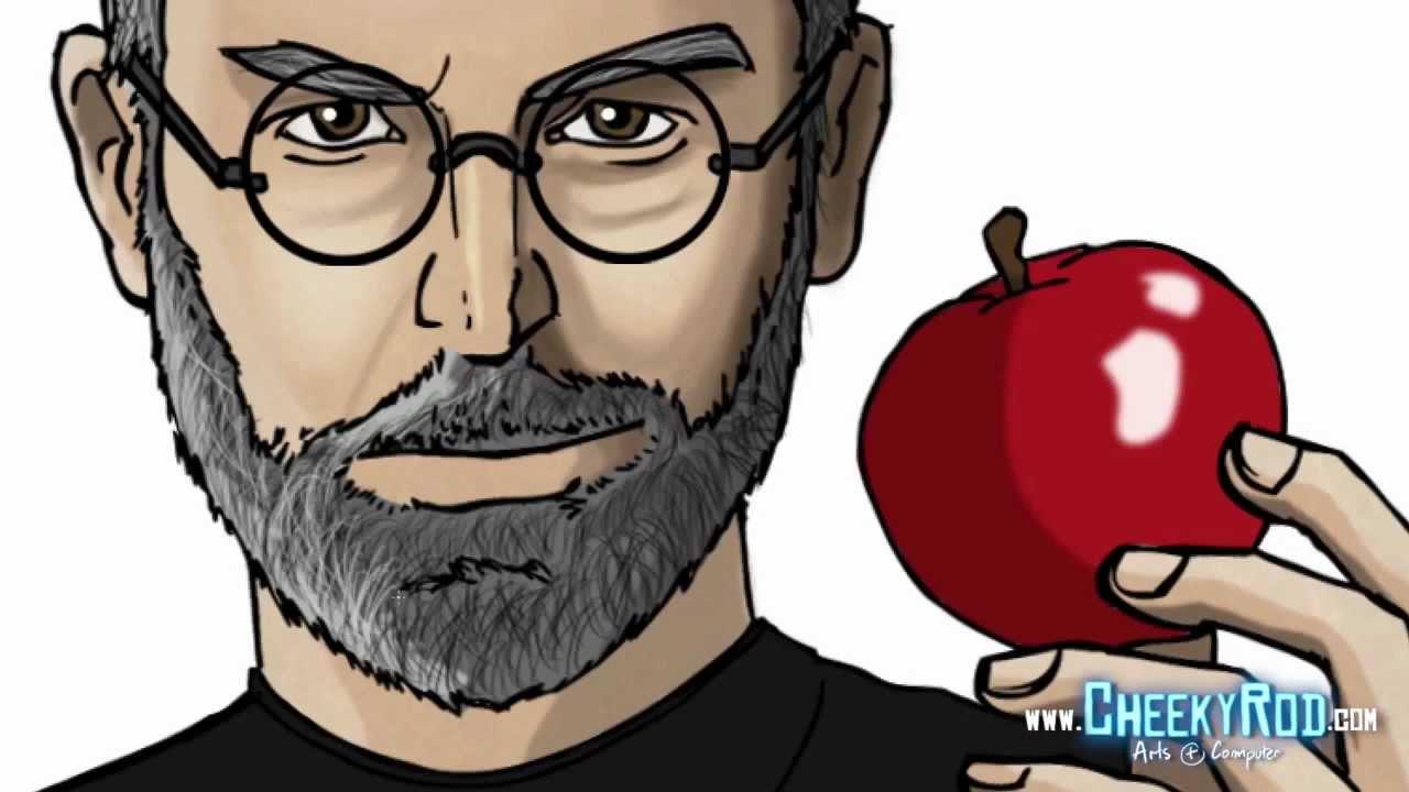 1280x720 Steve Jobs Speed Drawing