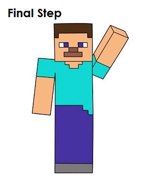 300x388 How To Draw Steve Minecraft