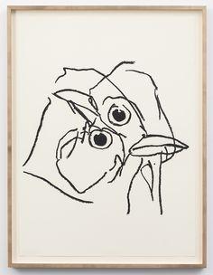 236x304 Ryan Mrozowski, Untitled Bird Drawing , Oil Stick On Paper 32 58