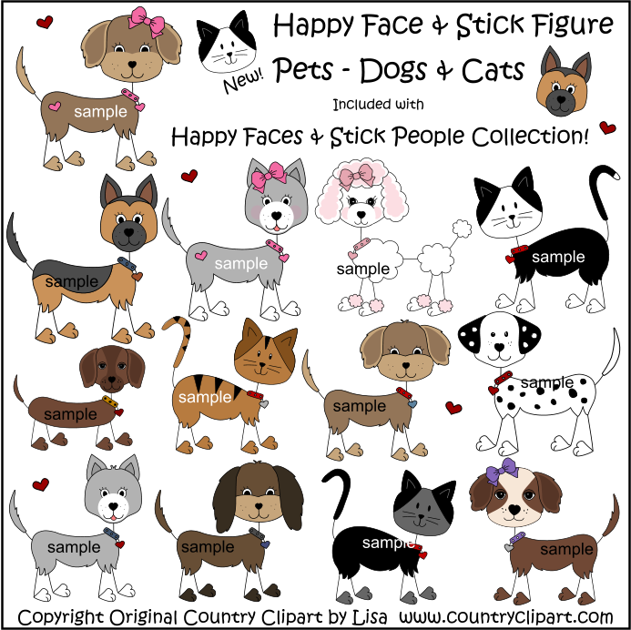 693x692 Stick Figure Dogs And Cats Drawing