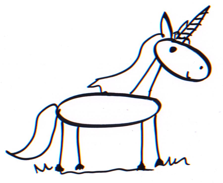 900x740 A Good Enough Stick Figure Unicorn What You Draw Is Good Enough