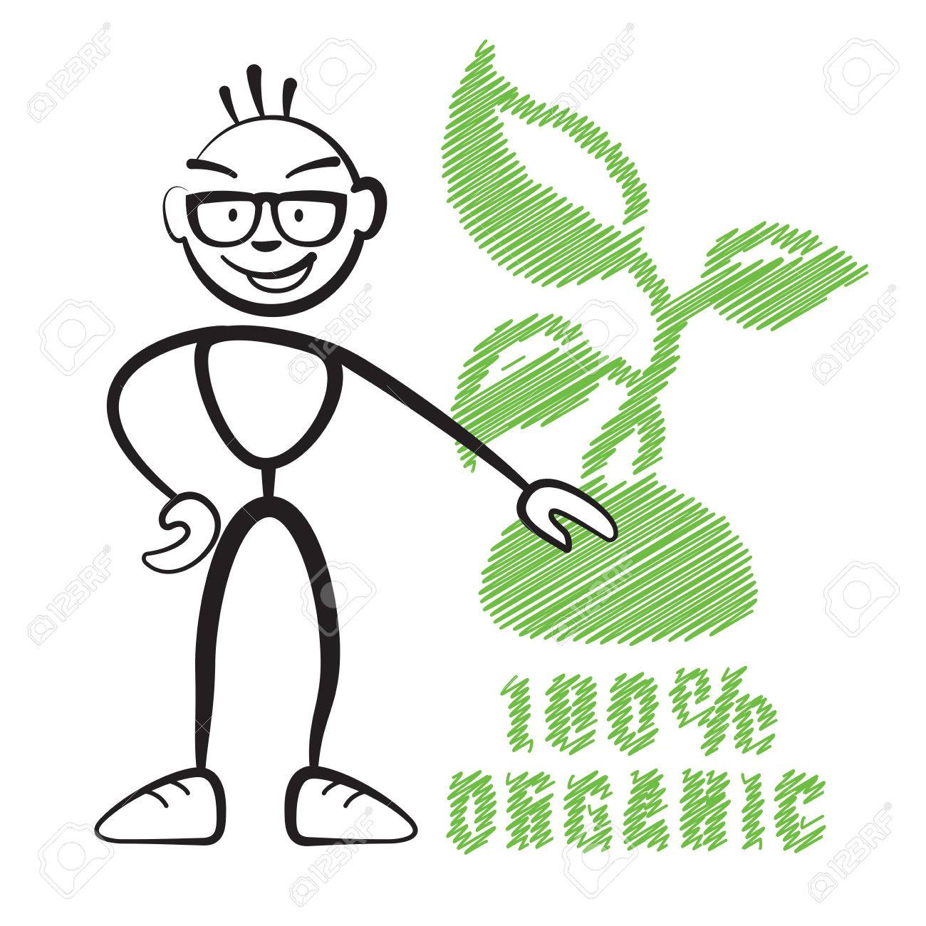 1300x1300 Stick Figure With Symbol 100% Organic, Stickman Vector Drawing