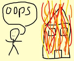 300x250 Stickman Accidentally Set House On Fire