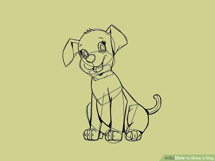 728x546 5 Easy Ways To Draw A Dog (With Pictures)